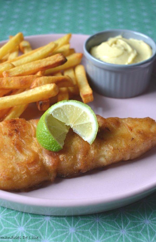 Fish & Chips et mayonnaise  à la moutarde ail romarin
